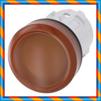 매끄러운 렌즈 호박색 표시기가있는 신품 오리지널 SIEMENS 3SU1001-6AA00-0AA0-[553429890799]