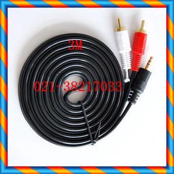 3.5 회전 AV 케이블 오디오 케이블 1-2 오디오 케이블 스피커 케이블 3 미터-[12507904926]