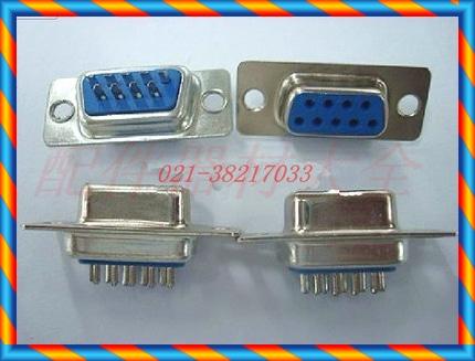 파란색 플라스틱 RS232 직렬 포트 헤드 DB9F 코어 구멍 DB9 암 와이어 본딩 와이어 파란색 플라스틱 커넥터-[14056095766]