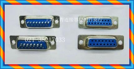 DB15F DB15 코어 구멍 2 열 DB15 코어 암 헤드 2 열 와이어 본딩 된 파란색 고무 코어-[14153731506]