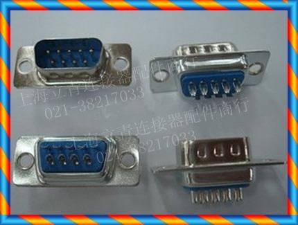 RS232 직렬 포트 헤드 DB9M 9 핀 DB9 수 와이어 본딩 와이어 파란색 플라스틱 커넥터-[14962577424]