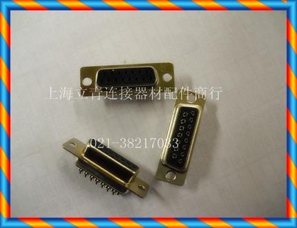 DB15PF DB15 코어 구멍 2 열 15 코어 암 직렬 포트 헤드 와이어 본딩 타입 검은 색 플라스틱 코어 커넥터-[15202544751]
