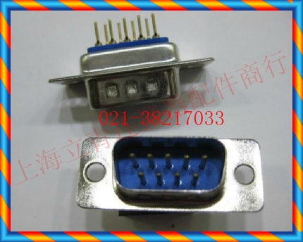 파란색 플라스틱 DB9 수 용접 플레이트 타입 DB9 코어 DB-9 232 직렬 포트 헤드 DB9 공공 좌석-[17580860048]